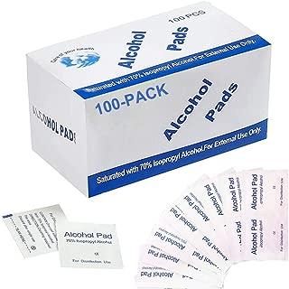 Pichidr-JP 消毒用アルコール綿 100枚 個包装 5x5cm 除菌アルコールシート 医療用70%