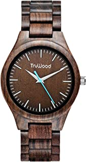 TruWood Hawk Wooden Watch with Black Sandalwood and All Wood Band