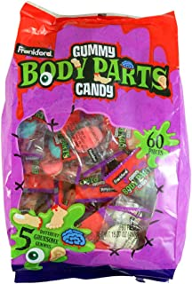 Halloween Assorted Gruesome Gummy Body Parts Candy, 15.87 oz Bag