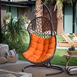 Cocos Resin Wicker Hanging Egg Chair with Cushion and Stand