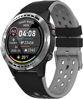 Smartwatch, Reloj Inteligente Actividad Hombre y Mujer, Deportivo Reloj Fitness con Pantalla Táctil Completa Pulsómetro, Monitor de Sueño, Podómetro,Gris