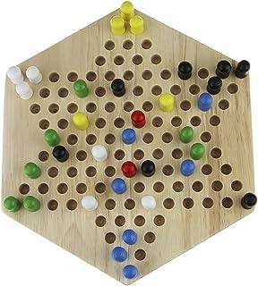 おもちゃ 子供 ゲーム チェッカー ダイヤモンドゲーム 木製基盤 ボードゲーム 脳力 トレーニング 大人でも楽しめるゲーム 6歳以上