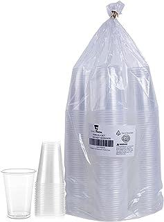 100 قطعة من أكواب بلاستيكية شفافة -ذاباك- أكواب أكواب بلاستيكية شفافة ، أكواب شرب للحفلات الباردة
