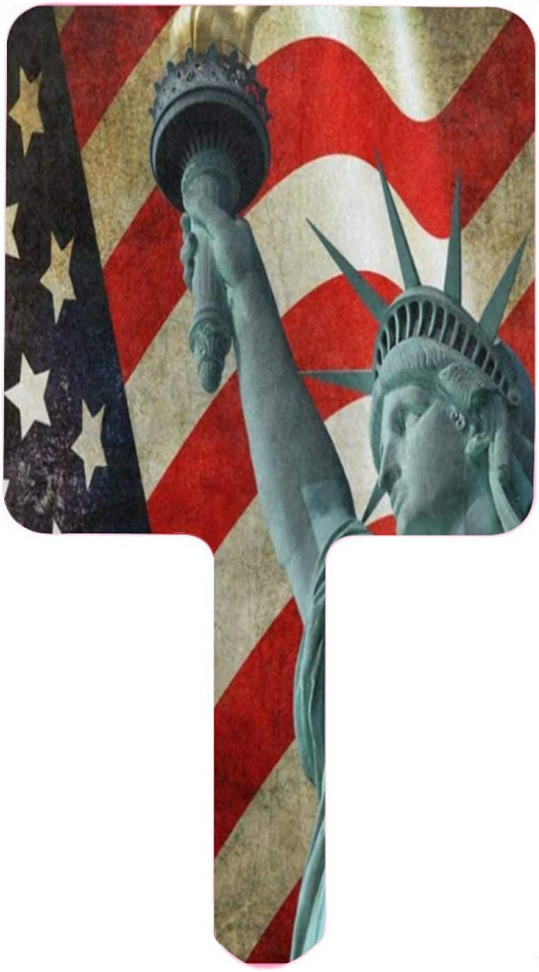 Hand Mirror Statue of Liberty with Phoenix Mall Max 51% OFF H United American Flag States