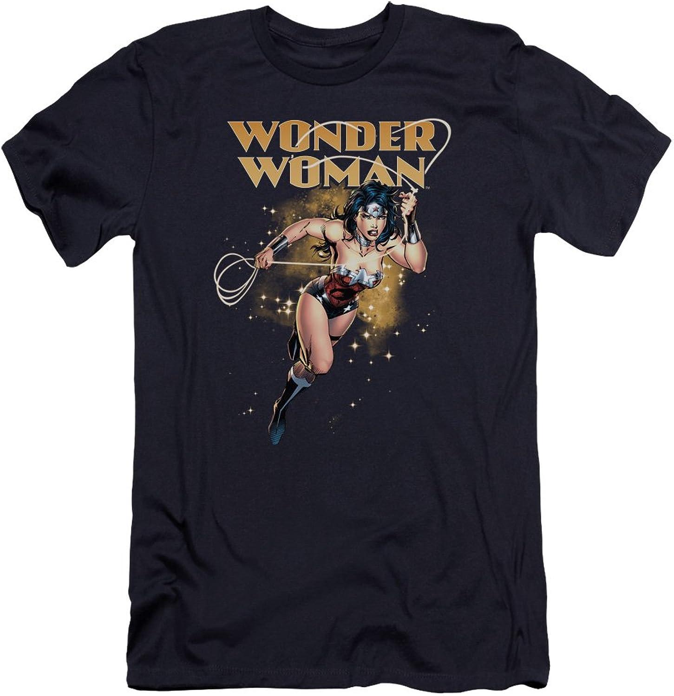 Justice League, The JLA - Mens Star Lasso Premium Slim Fit T-Shirt