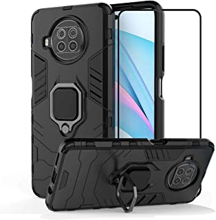 2ndSpring Case for Xiaomi Mi 10T Lite 5G / Xiaomi Redmi Note 9 Pro 5G with Tempered Glass Screen Protector,Hybrid Heavy Du...