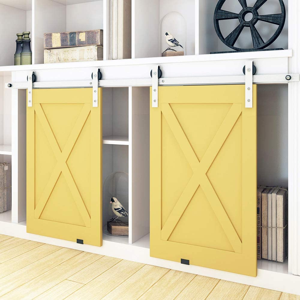 Kinmade Double Cabinet Barn Max 58% OFF Door Brushe Dedication Hardware Stainless Steel