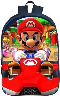 QWEIAS Mochila para niños - Super Mario Bros 3D Toddler Kids Mochila Escolar para niños pequeños - 16 Pulgadas Rucksack para 3-12 años – Regalo D