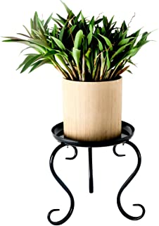Metal Small Plant Stand Indoor Floor Flower Pot Holder Rack/Round Iron Potted Plant Stands Pack of 2