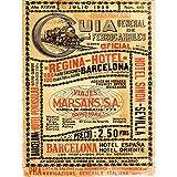 Wee Blue Coo Travel Tourism Transport Antique Spanish Rail TIMETABLE Steam Engine Spain 30X40 CMS Fine Art Print Art Poster BB9976
