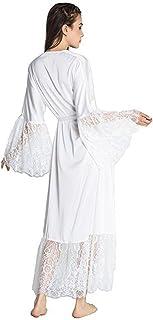 Friedman Kimono Robe Sexy Sleepwear Lingerie Chemises Women Silk Long  Nightgown a719242f9