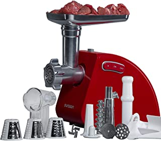 comprar comparacion Oursson Picadora de carne eléctrica y embutidora de salchichas, accesorio para trocear, picar y cortar, 1500 Vatios, rever...