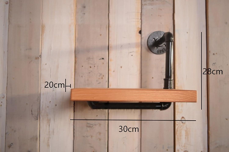 Retro Shelf Plumbing Rack Kitchen Bracket Iron Pipe Plank LOFT Wall Decoration ( Size   3028cm )