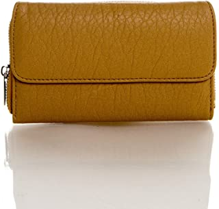 Soft Vegan Leather Women's Wallet - Zip Around Continental Wallet by Ampere Creations