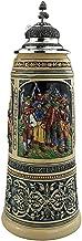 German Beer Stein 2 liter tankard, beer mug Limited Edition 2020 Tyrolean folk heroes, painted, pewter lid