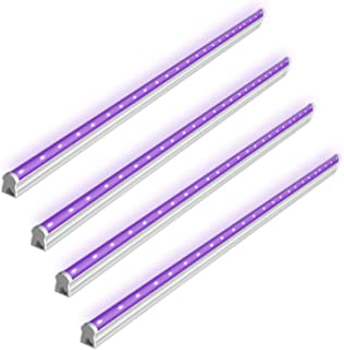 BRTLX Luz Ultravioleta USB LED,6W Portátil Lámpara de Luz UV,Luces de Discoteca para DJ Partido y Holiday, Curado Ultravioleta, Arte UV, Autenticación de Moneda (DC 5V) Pack de 4 Unidades