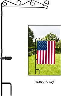 HOOSUN Garden Flag Stand, Premium Garden Flag Pole Holder Black Metal Powder-Coated Weather-Proof Paint, 37.9