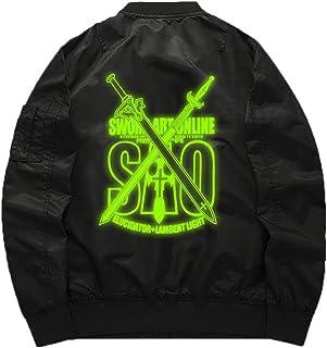 Sword Art Online Sao Anime Chaqueta Bomber Jacket para Hombre y Mujer Cosplay Disfraz Luminoso Sudaderas Outwear Abrigo