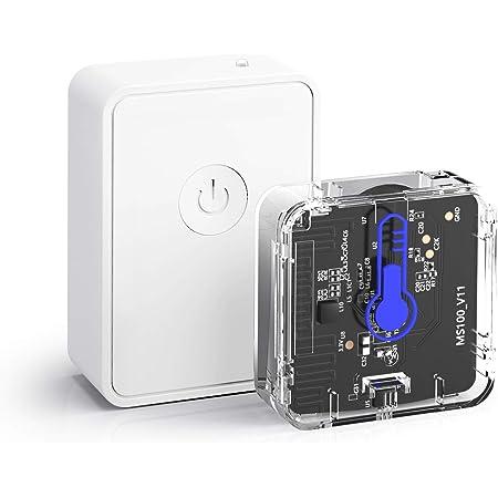meross Termómetro Higrómetro Sensor de Temperatura y Humedad Inteligente WiFi Inalámbrico. Compatible Aplicación e IFTTT MS100H. con Hub