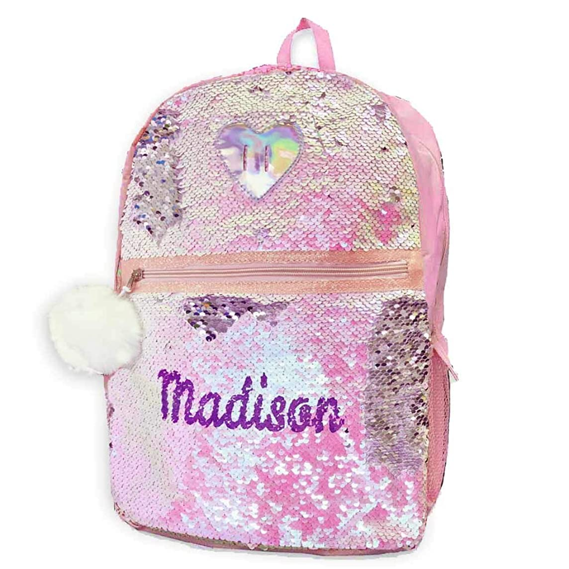 Personalized Magic Reversible Sequins Backpack (Heart)