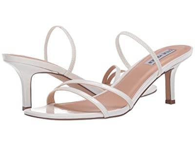 Steve Madden Loft Heeled Sandal (White Patent) Women