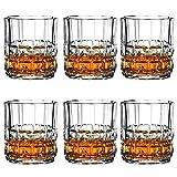 Whiskybecher set,Transparent aus Bleikristall,Schwere Scotch Verkostungsglas auf dem Markt,Elegante ergonomische Old Fashioned Nosing Tumblers ,Perfekt für zu Hause, Restaurants,240ml-6-teiliges Set
