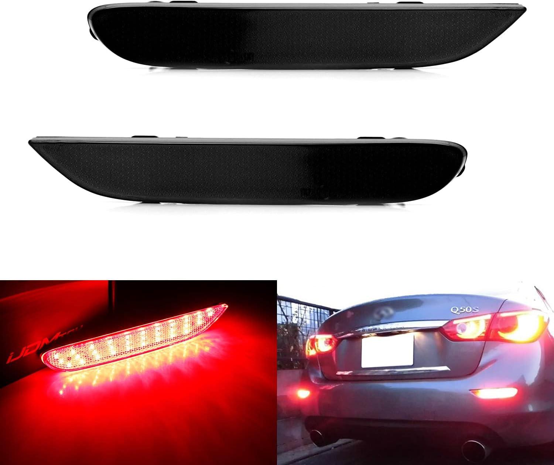 25% OFF unisex iJDMTOY Dark Smoked Lens 60-SMD Comp Bumper LED Reflector Lights