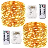 2 Piezes Luces de Cadena - 10M/33FT 100LED Guirnalda...