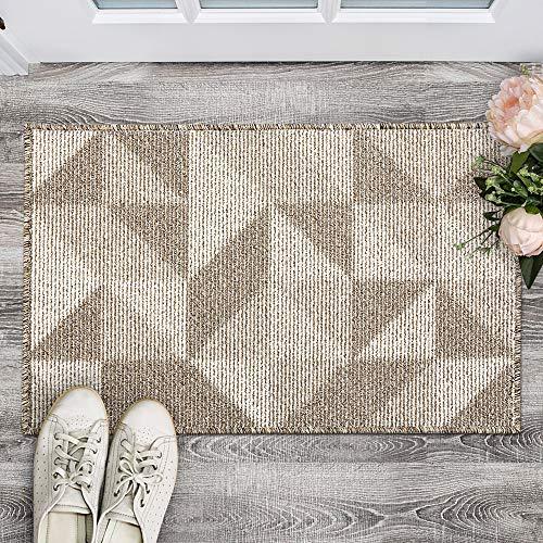 """Indoor Doormat, Non Slip Absorbent Resist Dirt Entrance Rug, 32""""x48"""" Large Size Machine Washable Low-Profile Inside Floor Door Mat"""