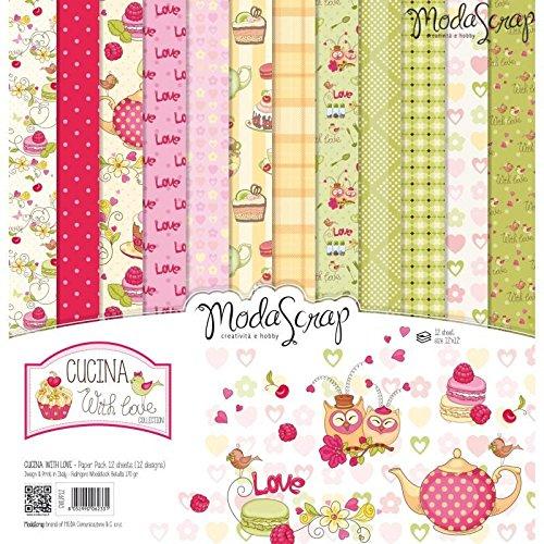ModaScrap Paper Line - Scrapbooking Cucina with love 12x12 inch