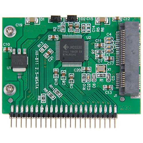 fire bird Transmisión de Datos a Alta Velocidad mSATA Mini PCI-E SSD Hembra a 5V 2,5 Pulgadas 44 Pin IDE Masculino Tarjeta de conversión