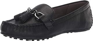 Aerosoles - حذاء Soft Drive Loafer للنساء - حذاء جلدي مستدير عند الأصابع حذاء مشي مسطح مع نعل داخلي من الفوم المتكيف