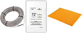 Schluter Ditra Heat E Radiant Floor Heating Kit Touch Screen Thermostat + Membrane + Heating Cable (120V 51 SqFt Heat Kit)