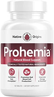 PROHEMIA Natural Blood Builder and Support for Healthy Iron Levels, Oxygen and Red Blood Cells Production, ...