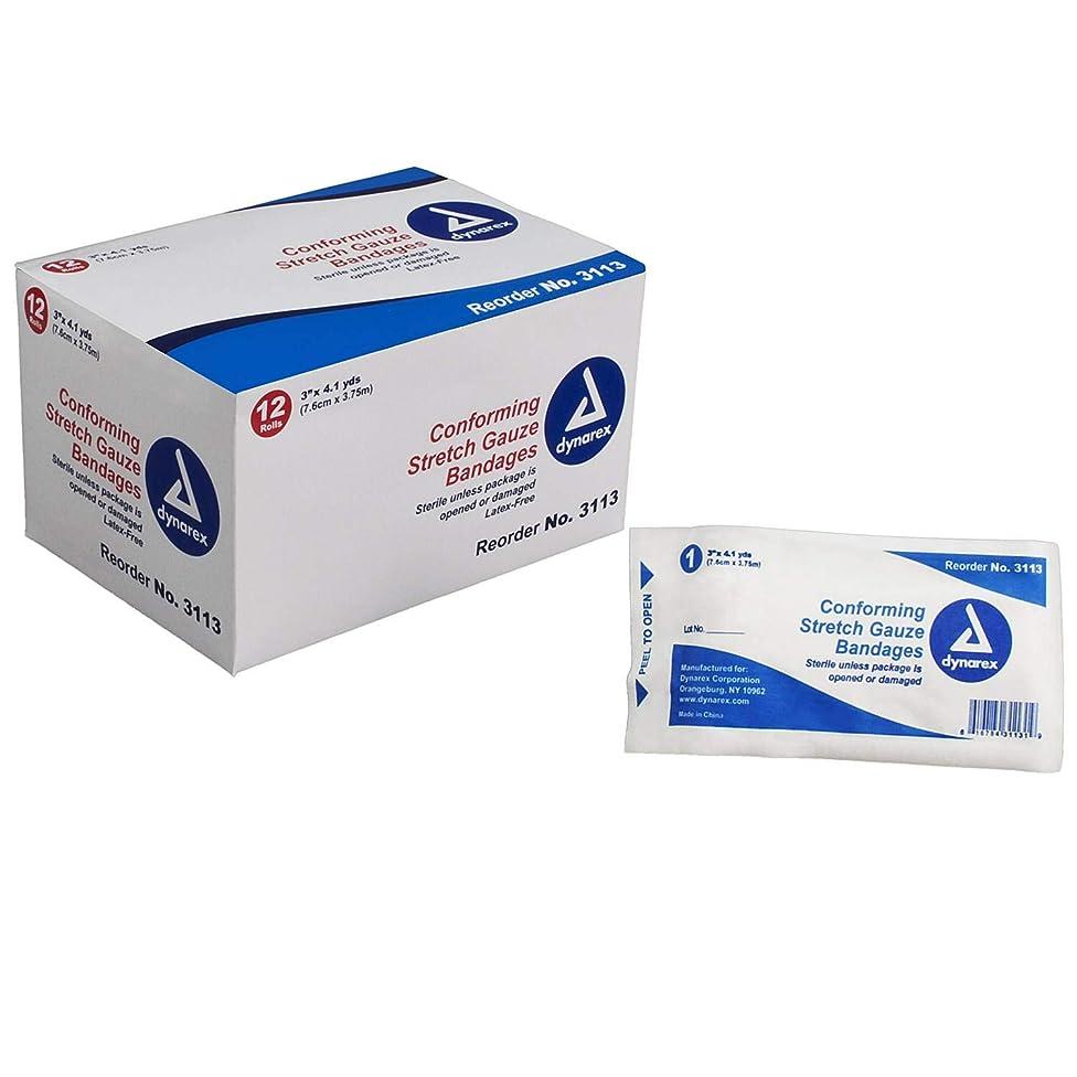 Dynarex 3113 Stretch Gauze Bandages , Box, 96, Bandages, 3