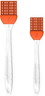 M KITCHEN WORLD Silicone Basting - BBQ, Pastry, and Oil Brush (Orange), Turkey Baster, Barbecue Utensil - use for Grilling...