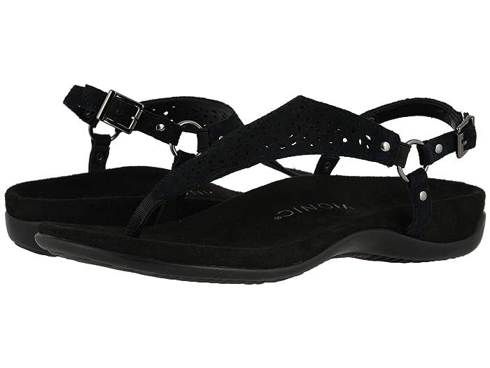 VIONIC  Kirra Perf (Black Suede) Womens  Shoes