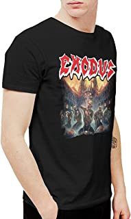 Douglas-A Mens Funny Exodus Blood in Blood Out Tshirt Washed Denim Hat Casquette Black