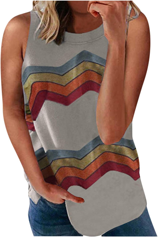 Gerichy Tank Tops for Women, Womens Tunics Workout Crewneck Sleeveless Casual Summer Tank Tees Blouses Tank Shirt