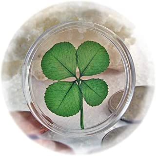 Clovers Online Genuine Four Leaf Clover Good Luck Pocket Token