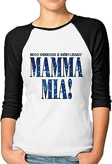 Mamma Mia Meryl Streep Raglan Sleeve Women Half Sleeve Tshirt Casualeaseful