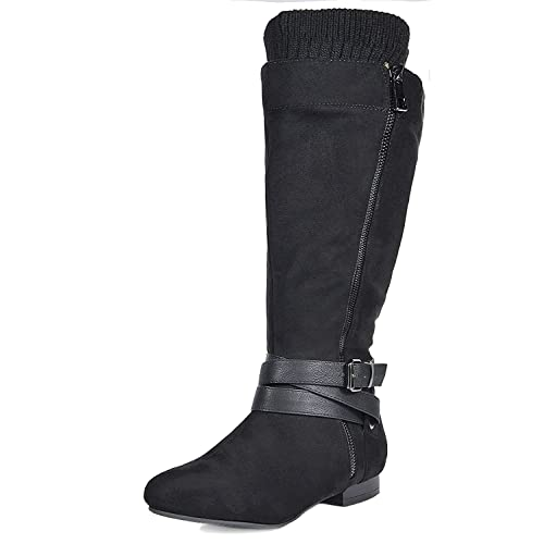54f5363bcc3 DREAM PAIRS Women s Flat Knee High Boots