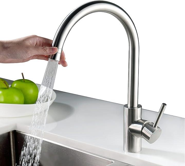 Rubinetto cucina miscelatore monocomando per lavello con girevole a 360 ° homelody acqua fredda e calda SD8024EU