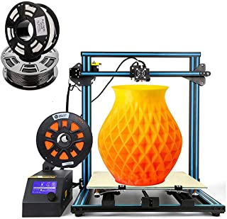CR-10 S5 Creality 3D Printing Printer/Desktop DIY Kits with Upgrade V2.1 Version Board/Filament Sensor/Dual Z Axis/Resume Off/Heater Bed /2KG PLA Filament 1.75mm (Largest Build Size 500x500x500mm)