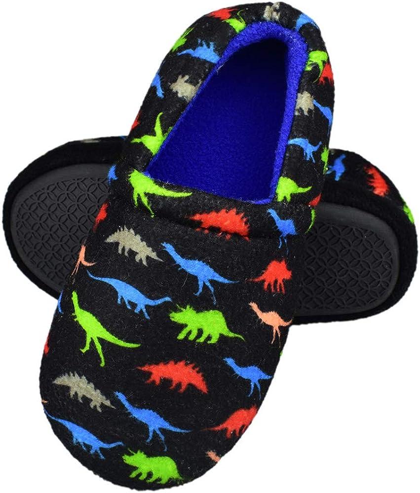RliliR Ever Kids Boys Dinosaur Slippers Foam Import with Memory Soft No Kansas City Mall