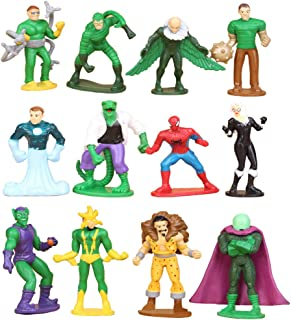 JianYia Superhero Spider-Man 12 Extraordinary Spider-Man ,Venom , Lizard, Sandman, Doctor Octopus Decoration