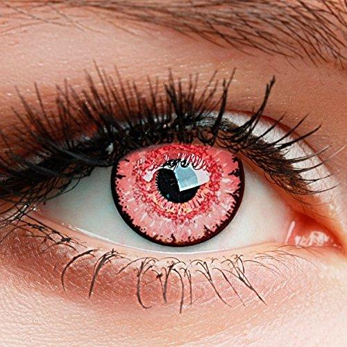 """Farbige Kontaktlinsen HEROES OF COSPLAY Circle Lenses\""""COLORWORLD\"""" Farblinsen für Cosplay, GUT DECKEND, INTENSIVE FARBEN, BEQUEM zu tragen (Dunkelrosa)"""