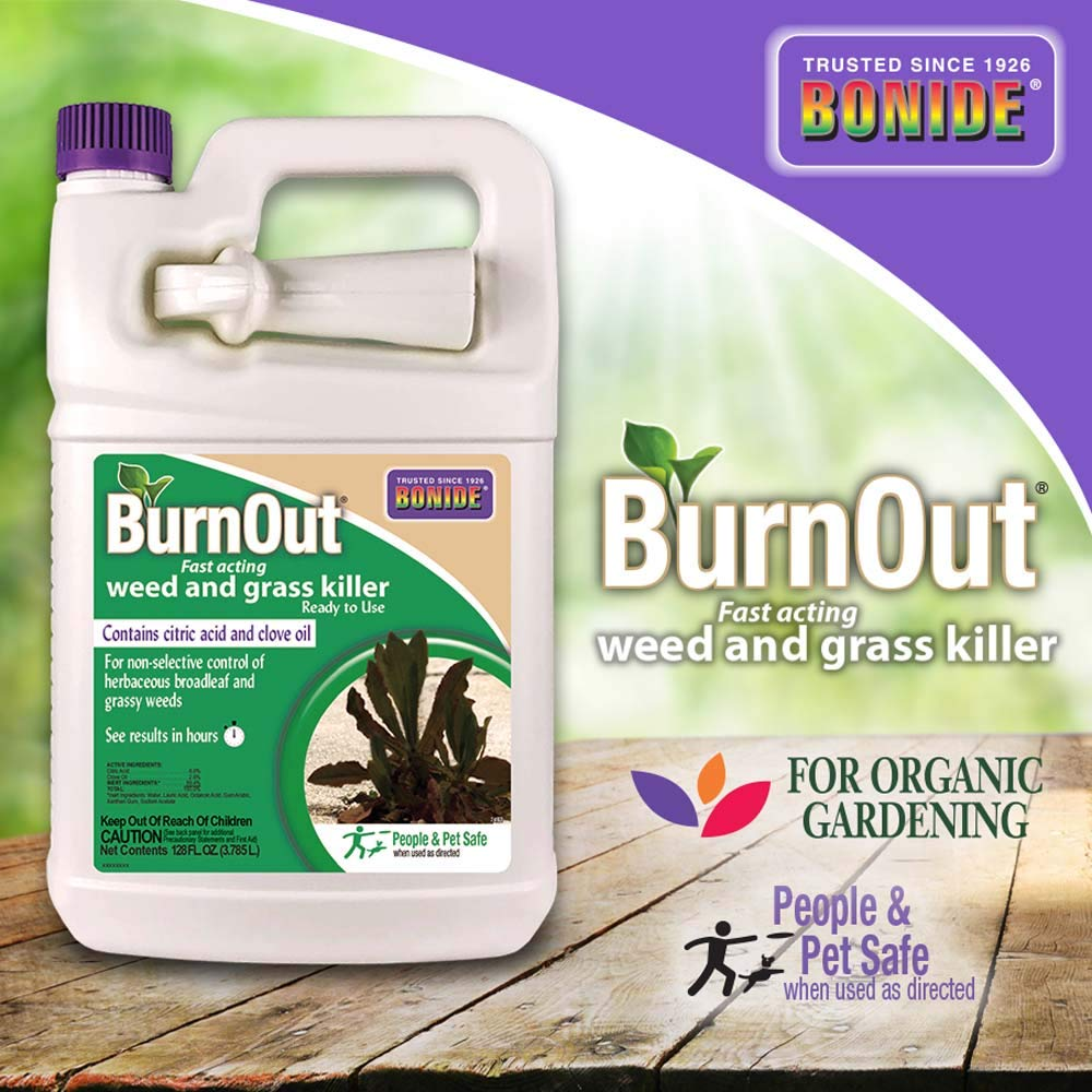 BND7492 Bonide 1 gal. Fast Acting Weed and Grass Killer - Ready-to-Use Burnout