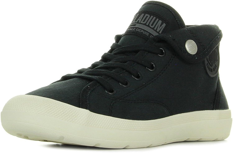 Palladium Aventure Sandals in Black and White