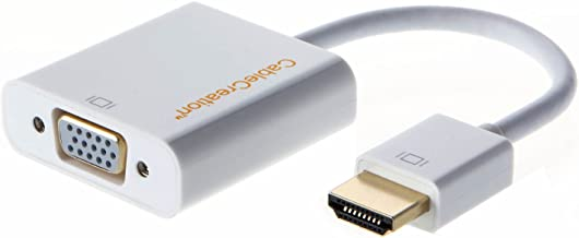 HDMI to VGA Adapter, CableCreation HDMI Male to VGA Female Converter, for PC Laptop Notebook HD DVD and More, White Color